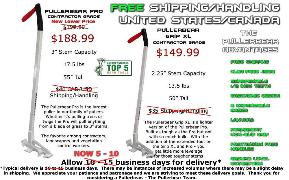 Pullerbear Pro and Pullerbear Grip XL Free Shipping