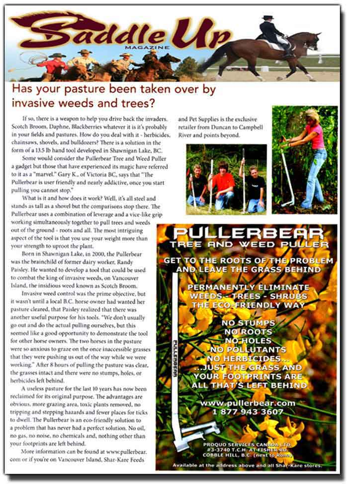 Pullerbear - Eco-Friendly Vegetation Control For Horse Pastures.